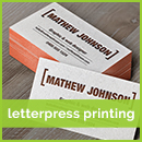 letterpress business card printing