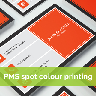 pms-spot-colour Business card