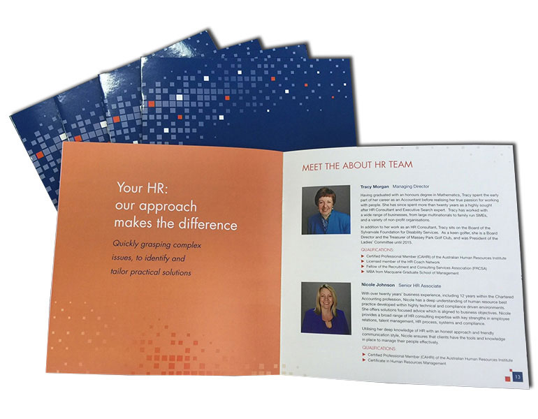 16 page square booklet