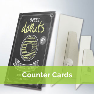 counter card printing