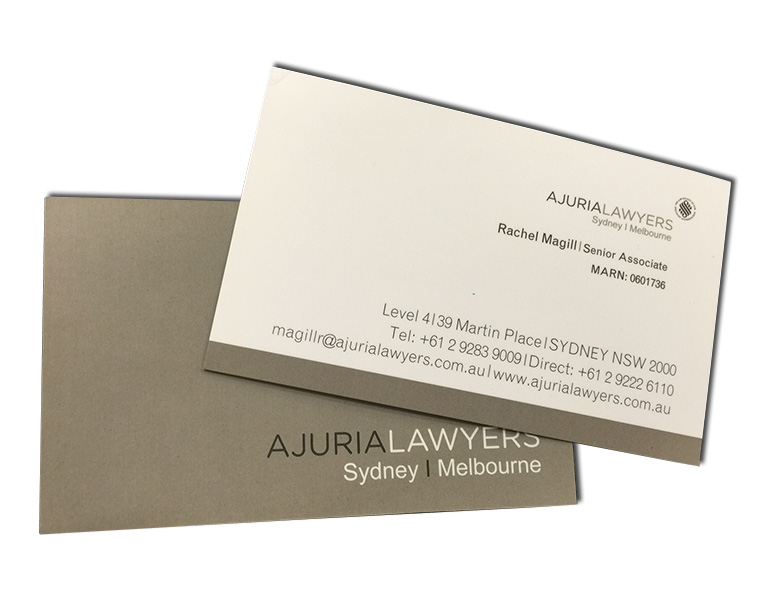 ajuria lawyers business cards front and back