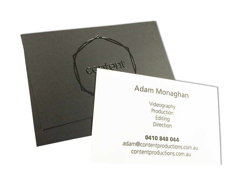 content blind spot gloss raised uv business card