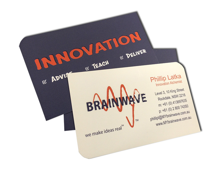 innovation raised uv business cards
