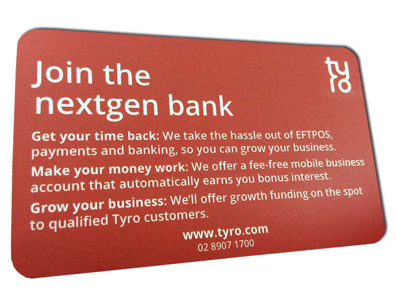 nextgen red business card round corners