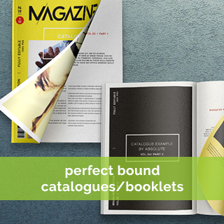 perfect bound catalogue & booklet printing