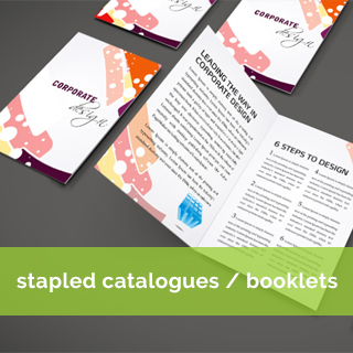 stapled catalogue and booklet printing