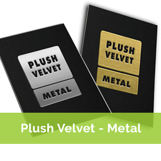 plush metal business cards - metal