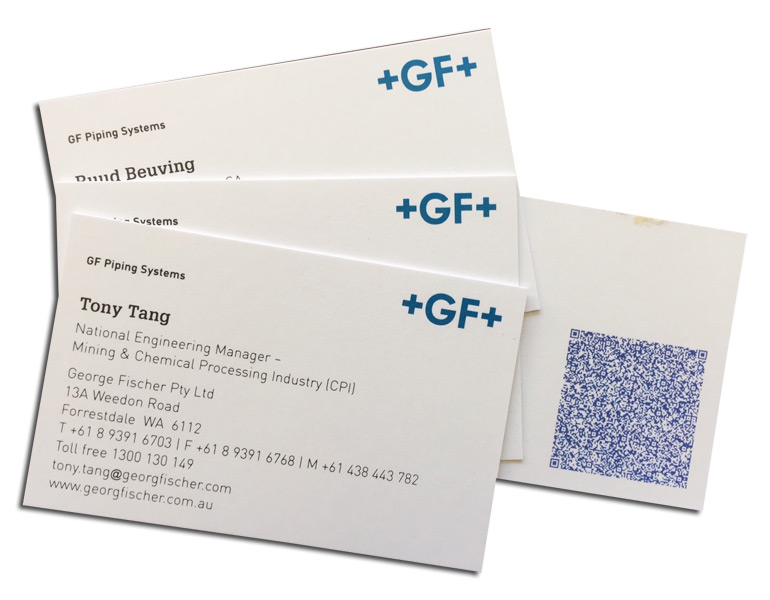 Business cards with QR code