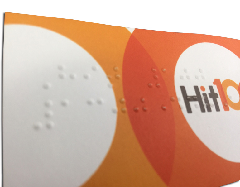 Braille business card printing