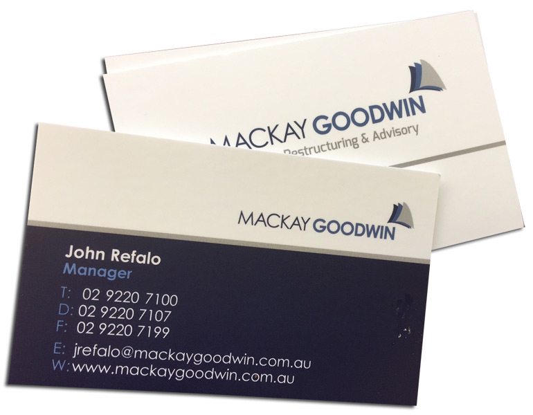 Sydney business card printing