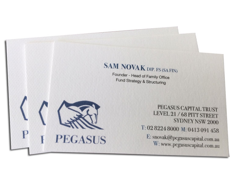 textured business card printing