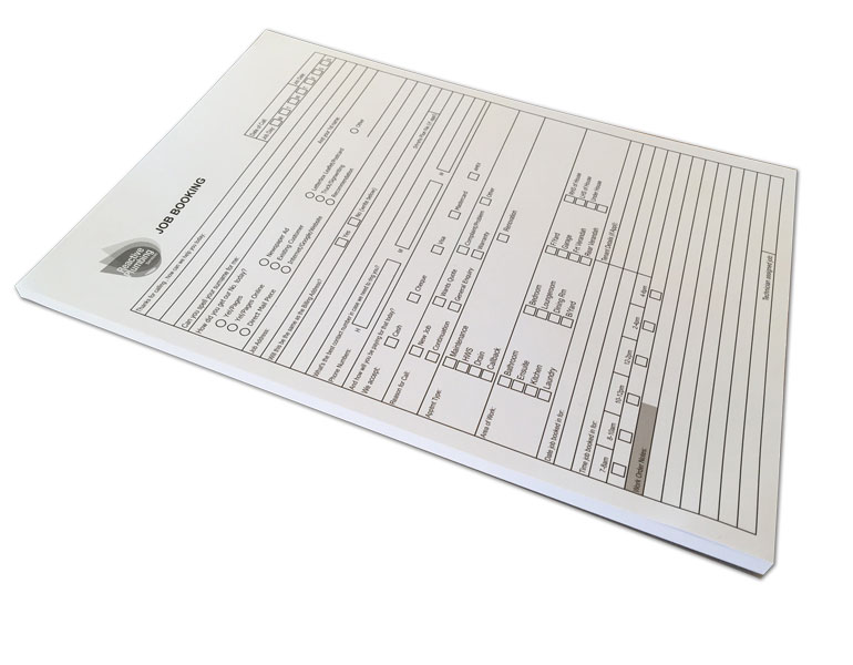 A4-pad-job-booking-forms