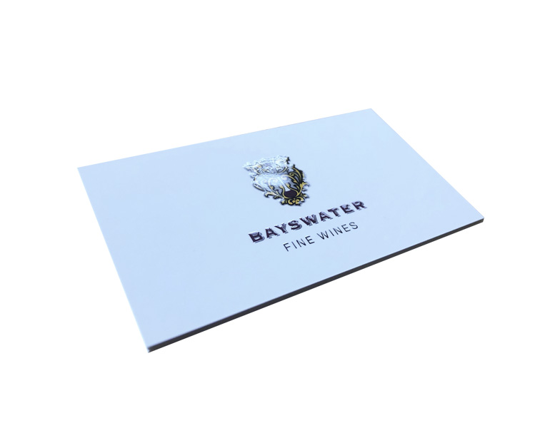 Raised Spot Gloss UV Gold 350 gsm business card Fine Wines