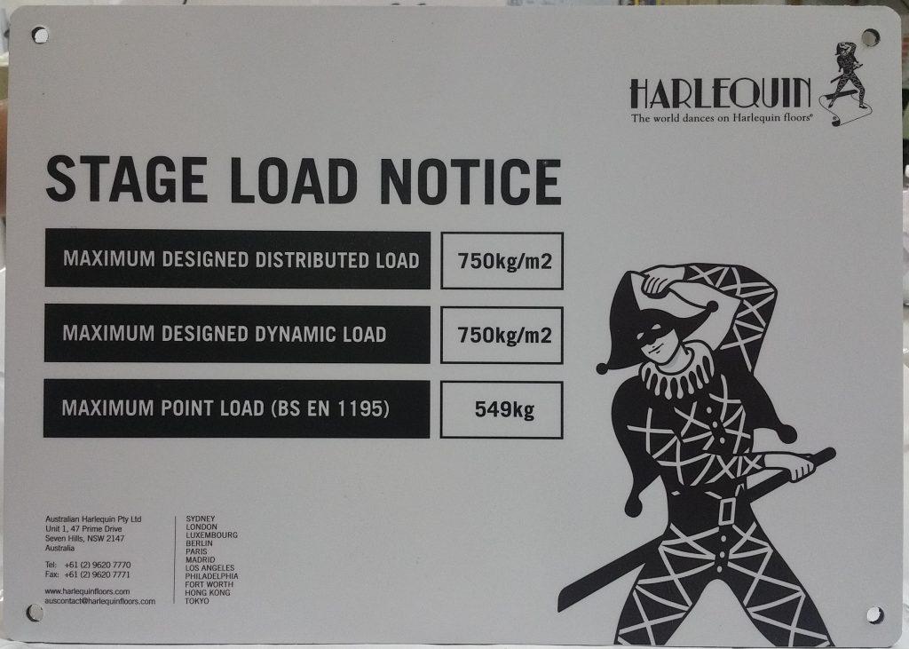 Aluminium panel sign