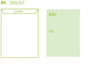 B4 Envelope Printing design specifications