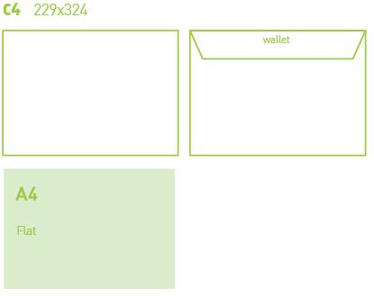 C4 Envelope Printing design specifications
