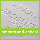 Emboss business card printing