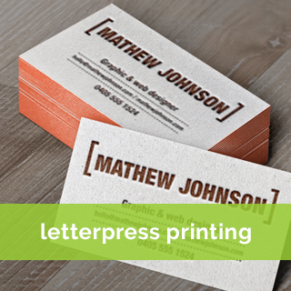 letterpress printing Business card