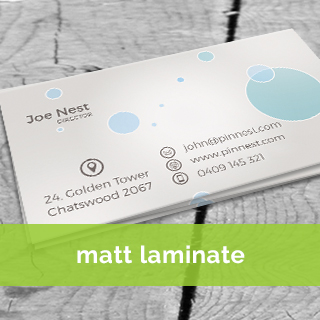 matt laminate Business card printing