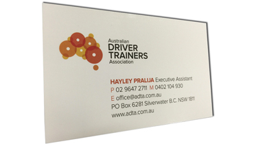 double sided Gloss business cards