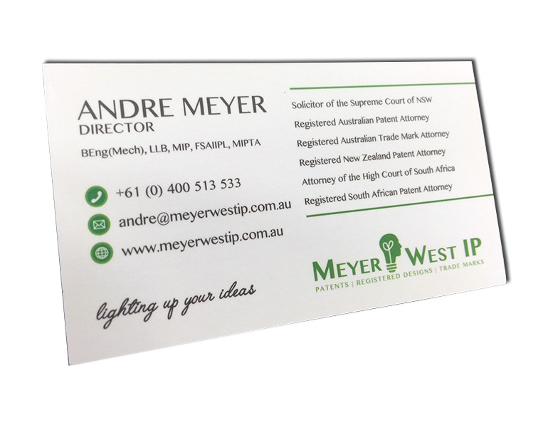 andre meyer business cards front