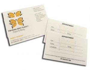 beauty salon appointment cards