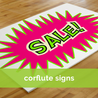 corflute sign printing