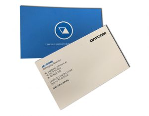 datcom business card raised uv
