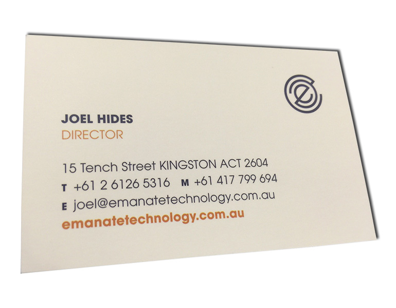 emanate business cards front