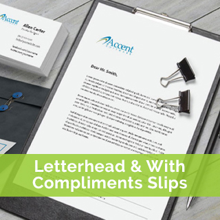 letterhead & with compliments slips