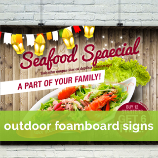 outdoor foamboard sign printing