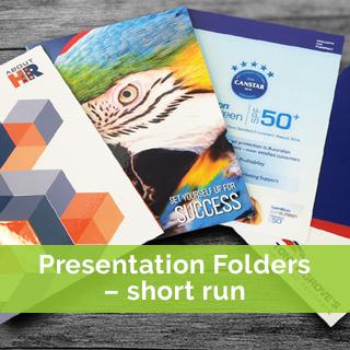 presentation folders short run