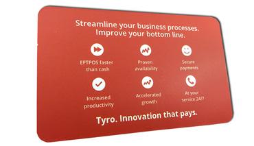 GLoss Laminate Business card printing with round corners