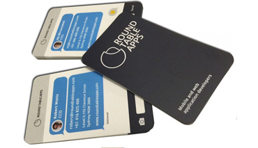 Round cornered business card printing