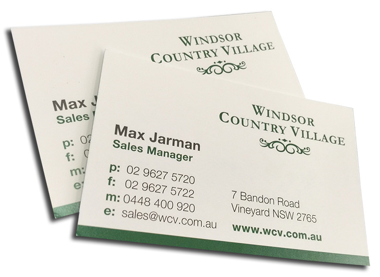 single sided business cards on satin