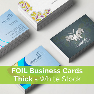 foil-business-card printingon thick white stock