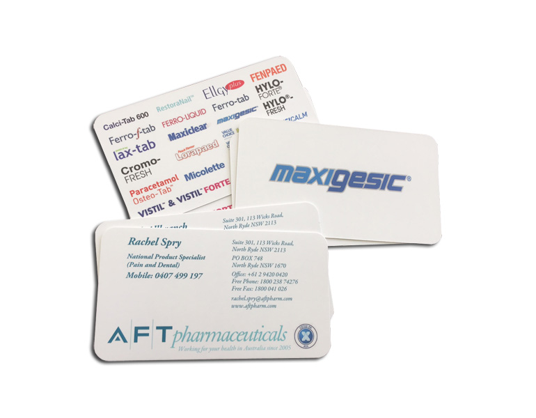 business cards with round corners