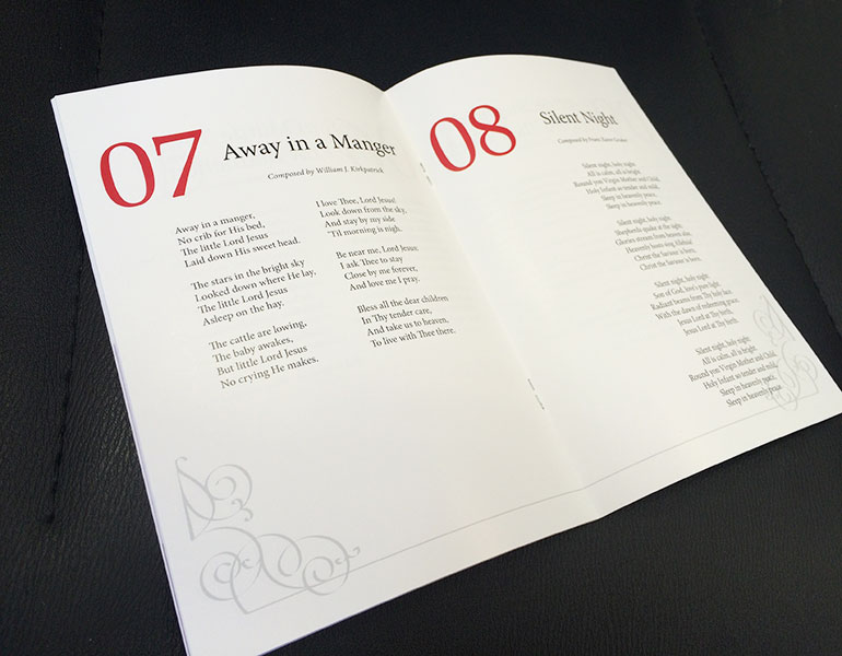 A5 stapled glossy booklet inside pages