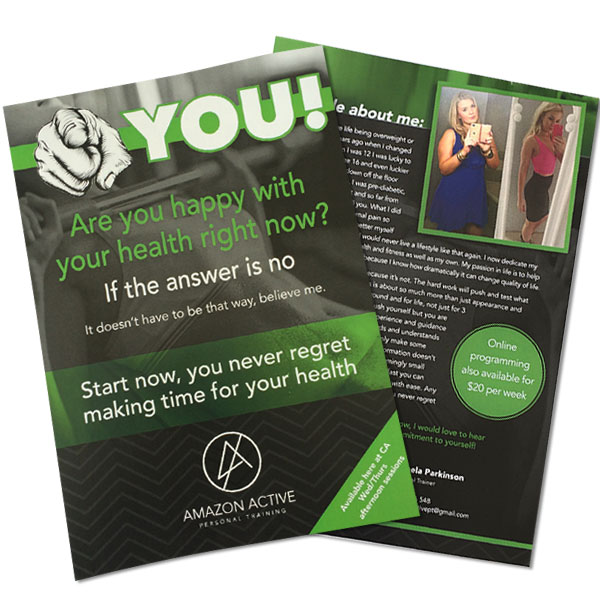 A5 flyer printing gloss paper double sided
