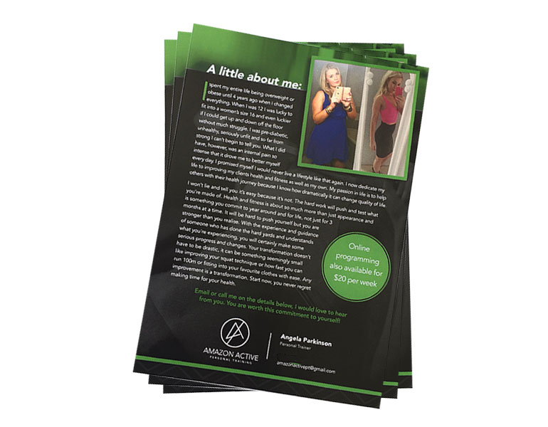 A5 flyer printing gloss paper