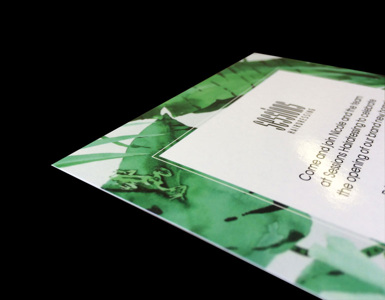 A6 invitation cards gloss cello full colour printing