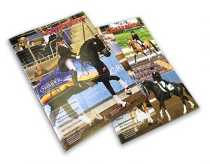 Custom Catalogue Book Printing Online, Saddle stitched,44pp A4 self cover booklet used as show program.