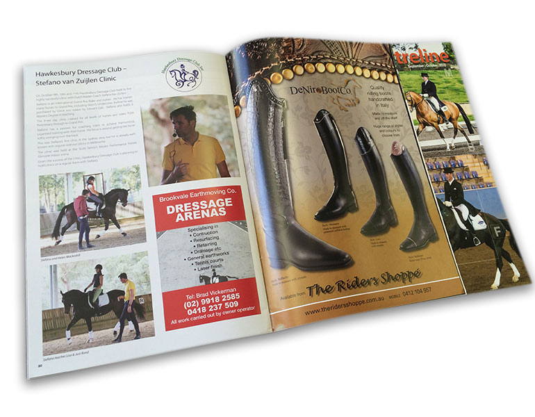 Custom Catalogue Book Printing Online, Saddle stitched,44pp A4 self cover booklet used as show program. 4 Colour print