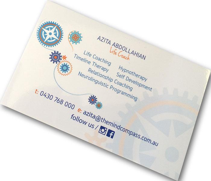 matt business card printing