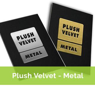 plush metal business cards - metal