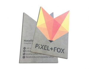 Die Cut Business Card Printing Custom Cut orange grey cards