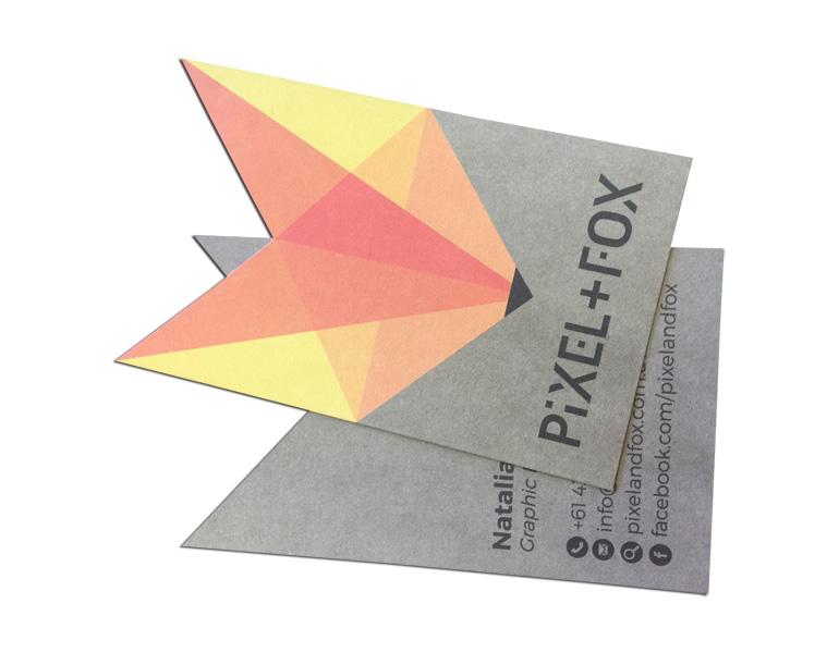 Die Cut Business Card Printing Custom Cut