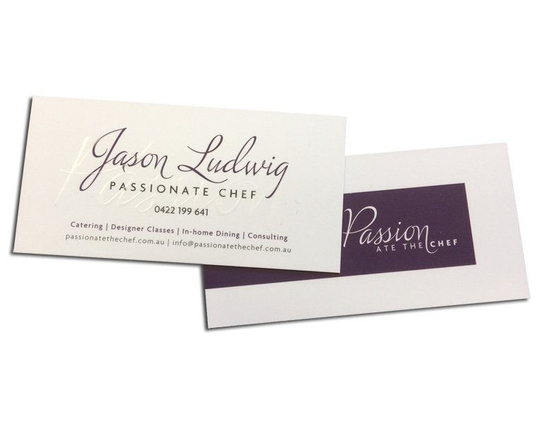 raised UV business cards front and back