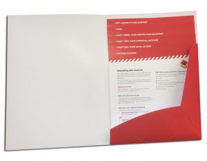 folder with cascading flyer set