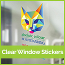 clear window sticker printing